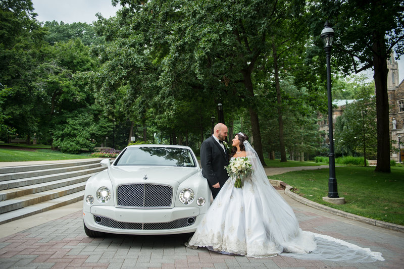 Lehigh University wedding photography bride and groom