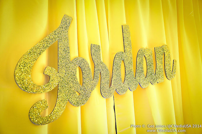 Sparkling Events Designs - Neon Dance Birthday Party - Glitter Name Sign