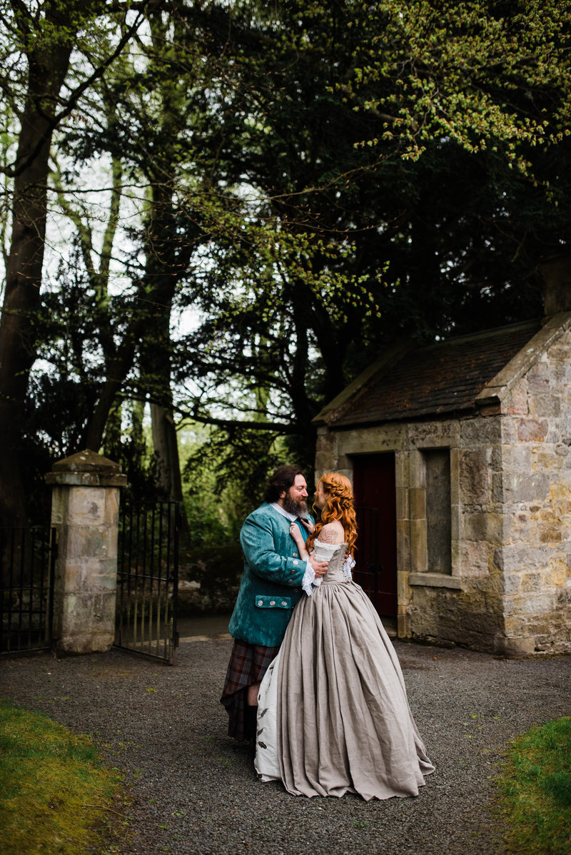 Wolf + Charlena-Outlander-Inspired-Wedding-Old-Glencorse-Kirk-Scotland_Gabby Chapin Photography_Print_0374