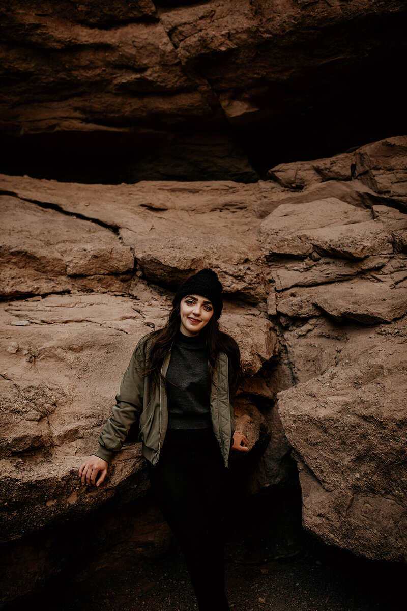 New Mexico elopement photographer in a slot canyon