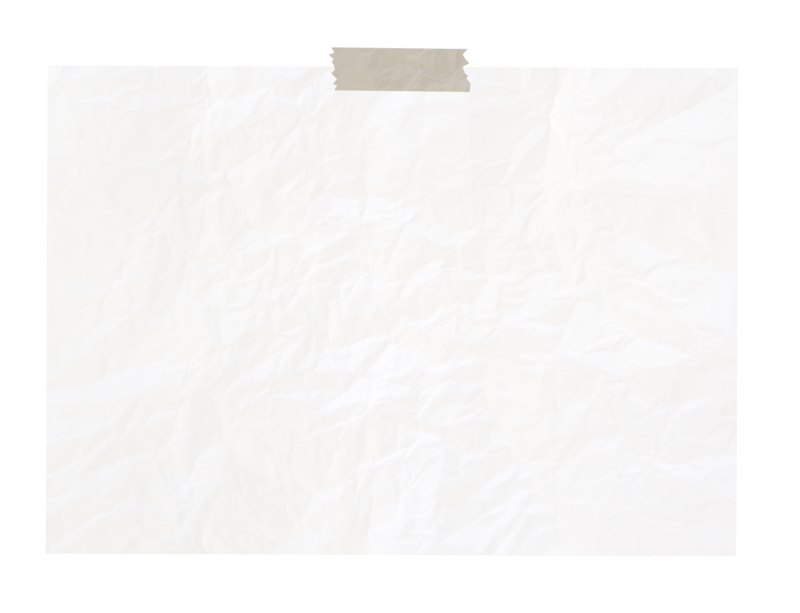 Blank Paper with Tape