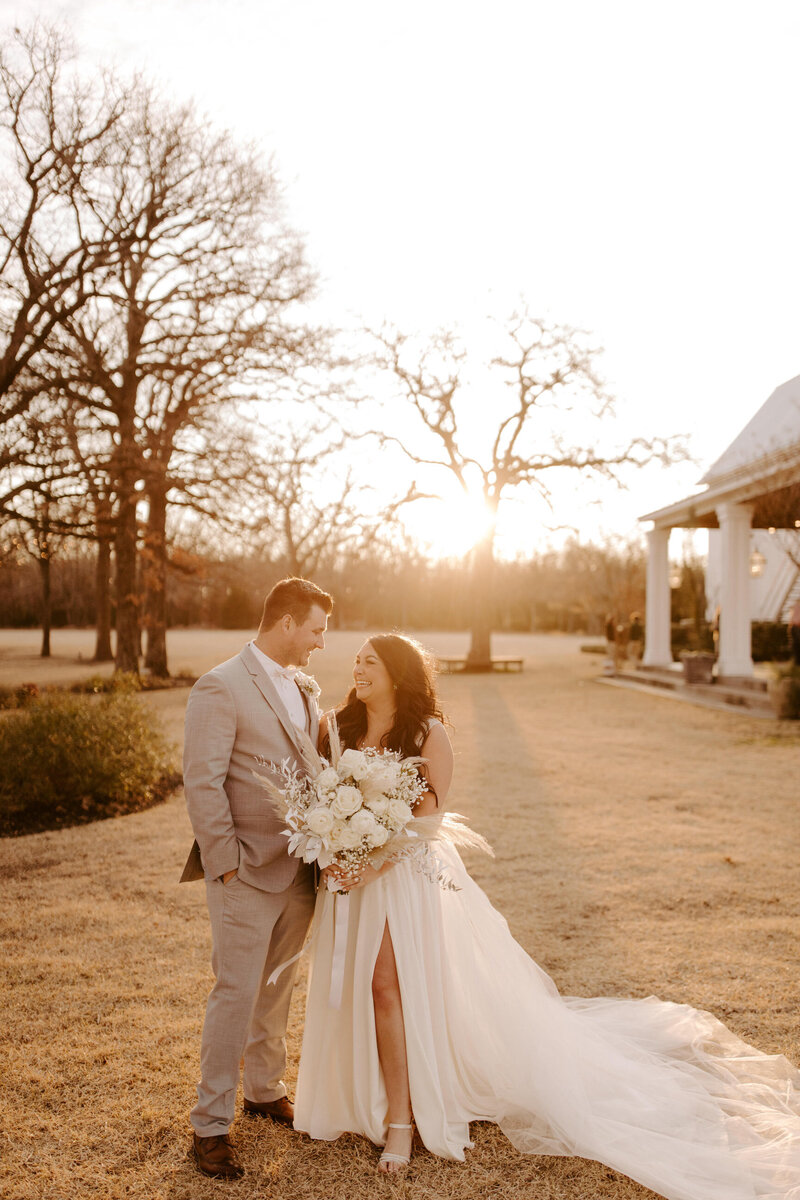 Brad + Haley | Winter Wonderland Wedding at the White Sparrow Barn | Quinlan, Texas | Alison Faith Photography-6705
