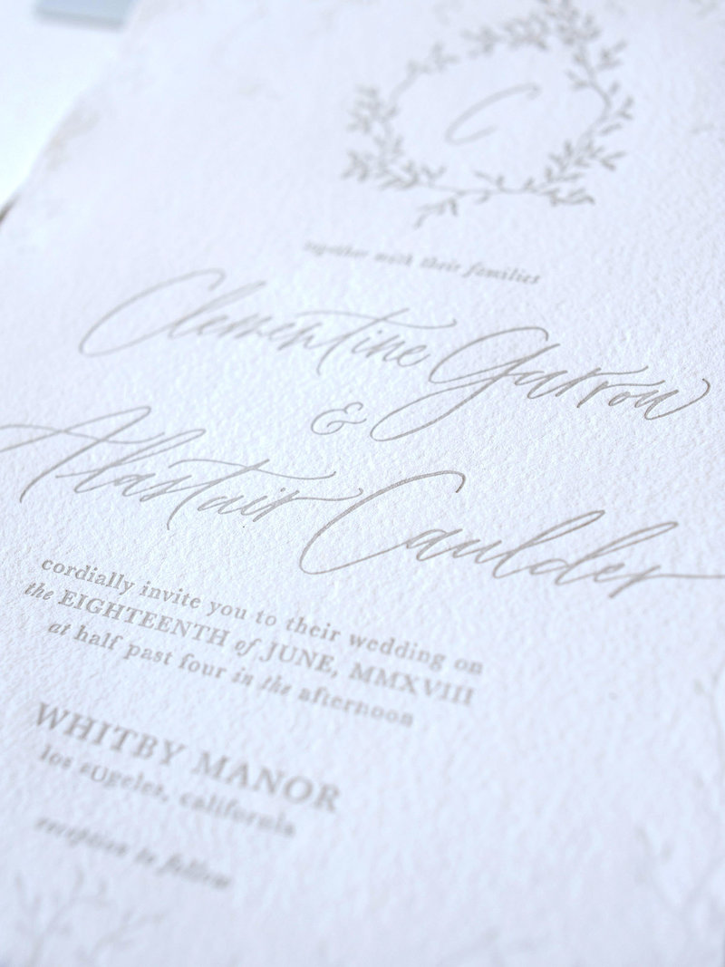 Semi-Custom Invitation Collection - Cascading Beauty 2-Piece Set Closeup
