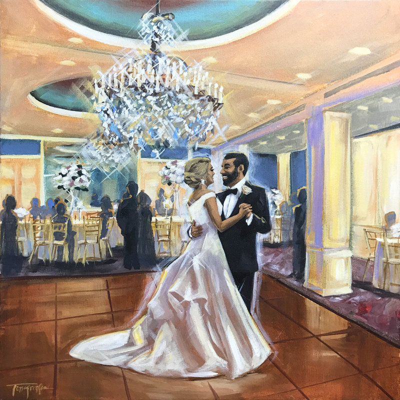Torregrossa Fine Art original live wedding painting by Stephanie Torregrossa Gaffney 2018 New Orleans  2017