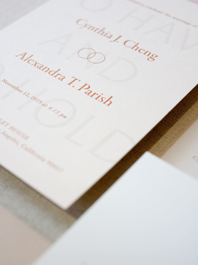 Semi-Custom Invitations -Sacred Vows Collection 2-Piece Suite