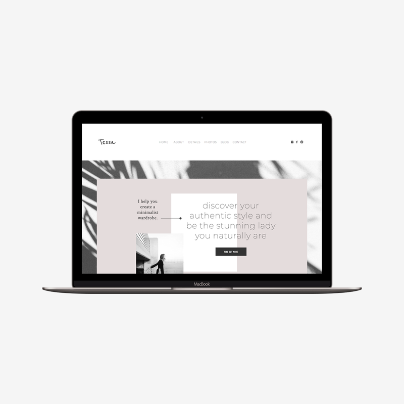 The Roar Showit Web Design Website Template Tessa Mockup
