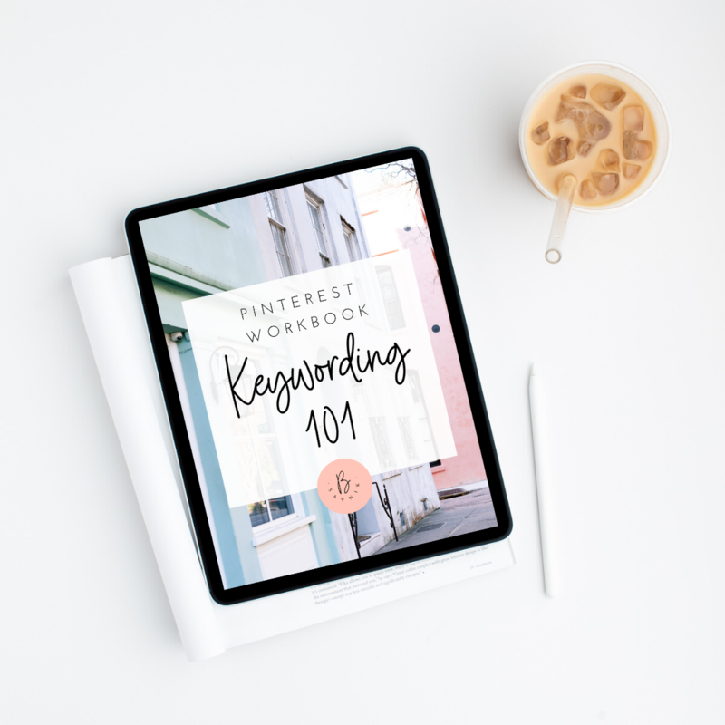 pinterest workbook Keywording 101
