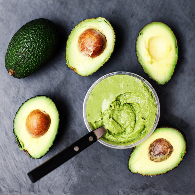 Fresh & bright stock pic of avocado guacamole from deposit photos