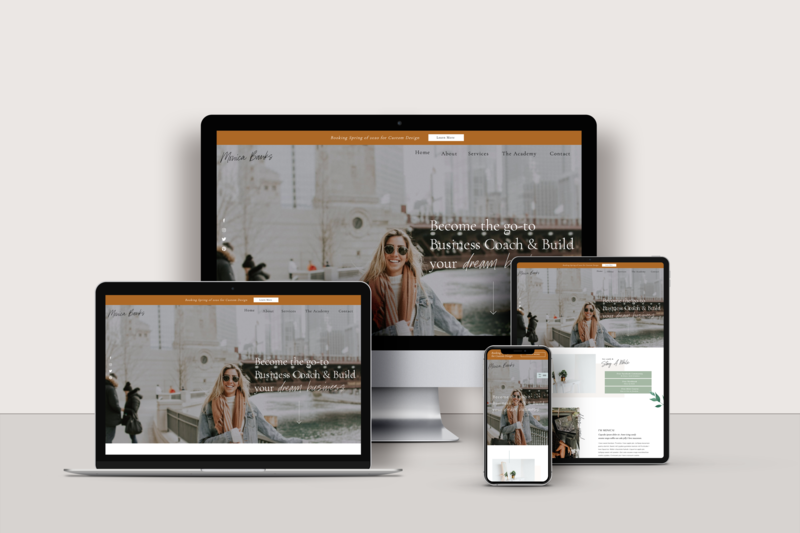 Showit Website Template for Virtual Assistants - The Goddess girl by Becca Luna