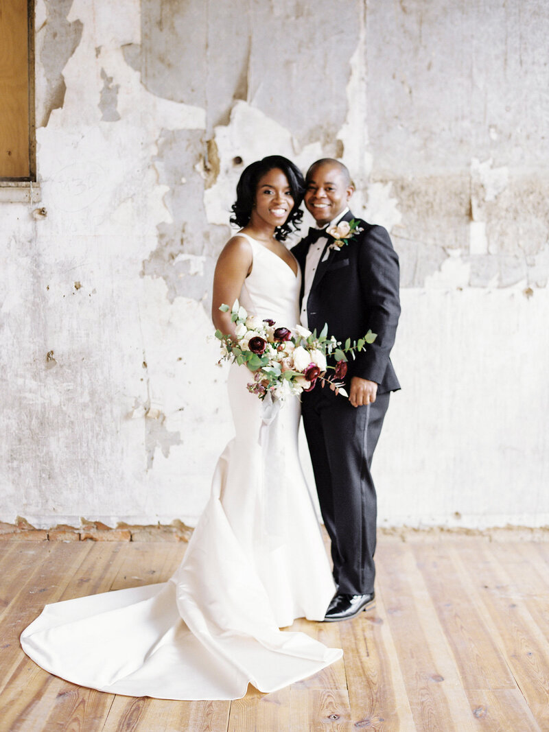 Bride and Groom at Black Tie Pennsylvania Wedding