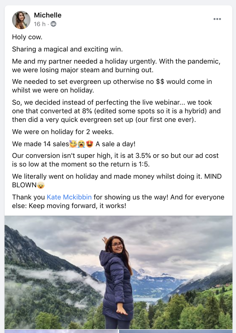 michelle - 5K testimonial - holiday
