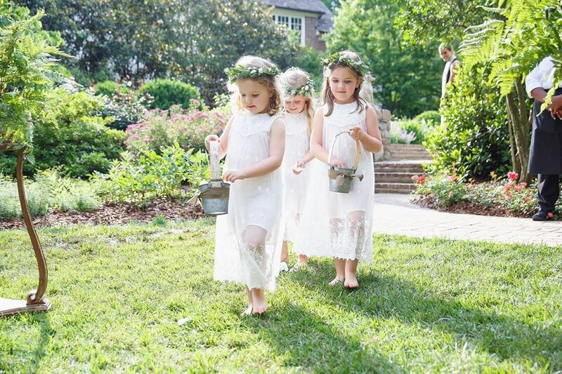 catherine and paul flower girls