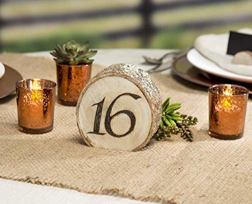wood log table number