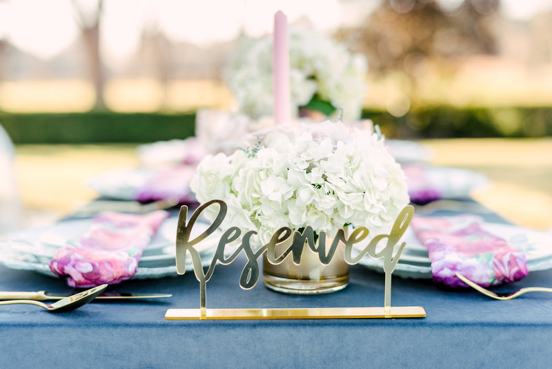 wedding styled table