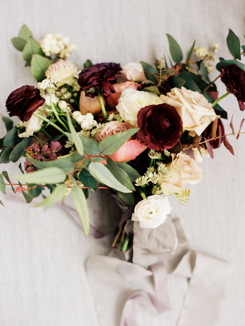 Bridal Bouquet with Ranunculus and Roses