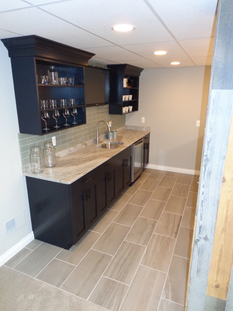 finished basement bar