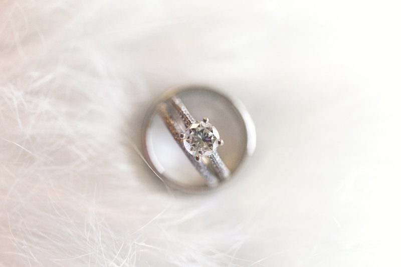 engagement ring in wedding band