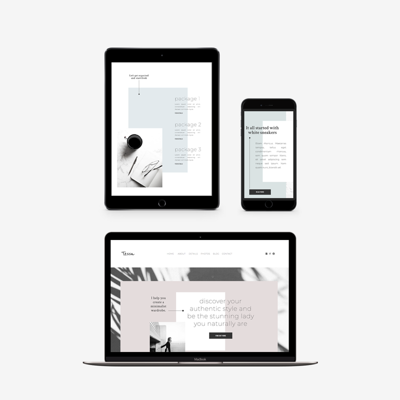 The Roar Showit Web Design Website Template Tessa Mockup responsive
