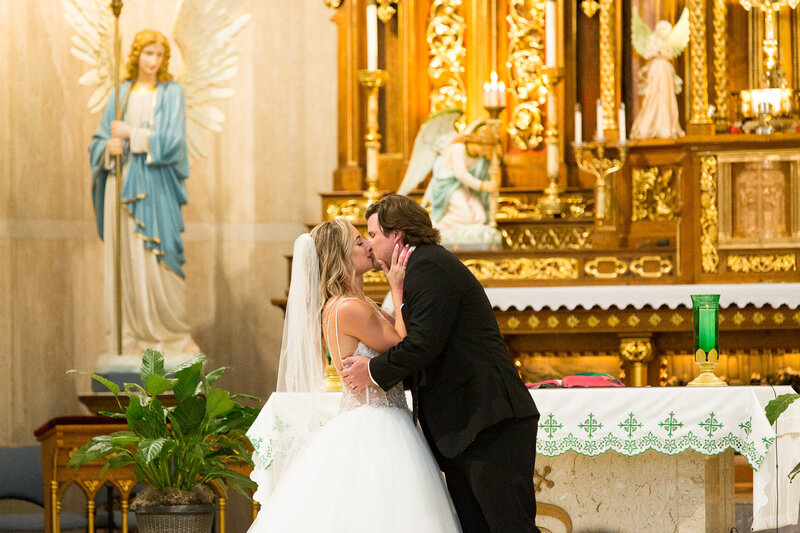 first kiss at st. john cantius church