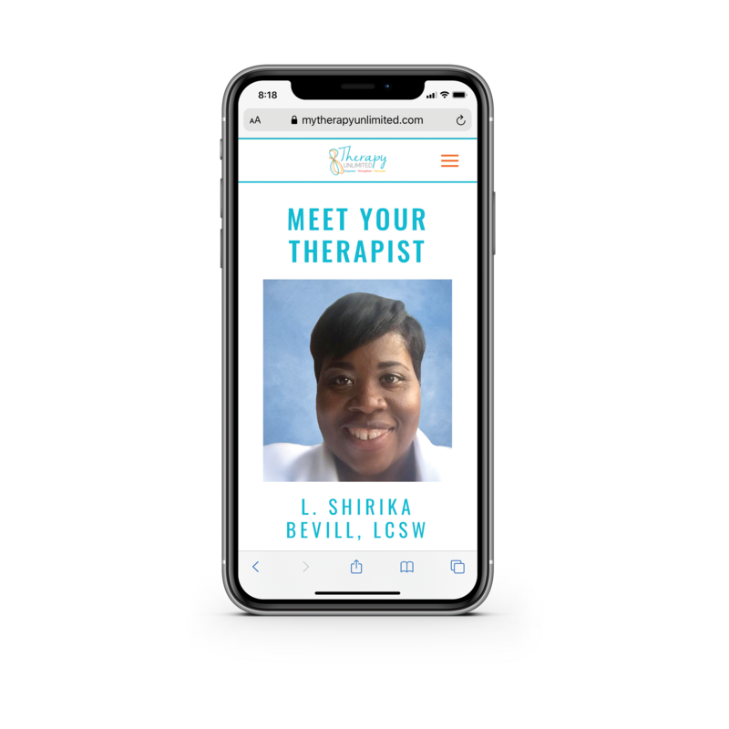 Therapy Unlimited about page one phone