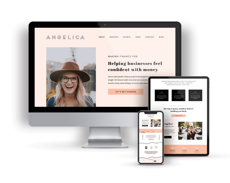 Angelica is a Showit Website Template for Service-based Businesses