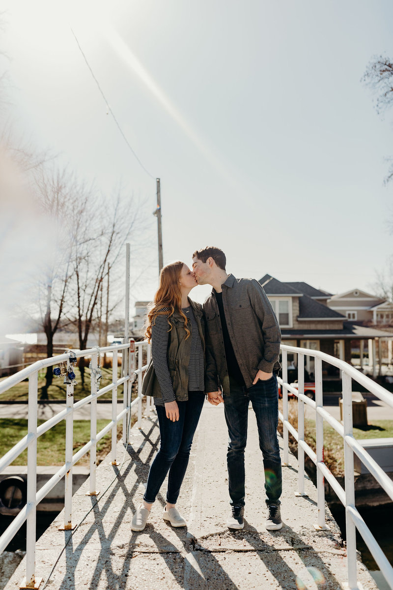Winona Lake engagement photography