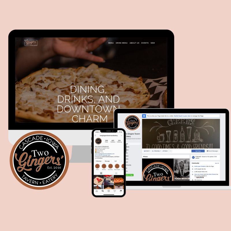 Two-Gingers-Tavern-Website-and-Social-Media-Branding