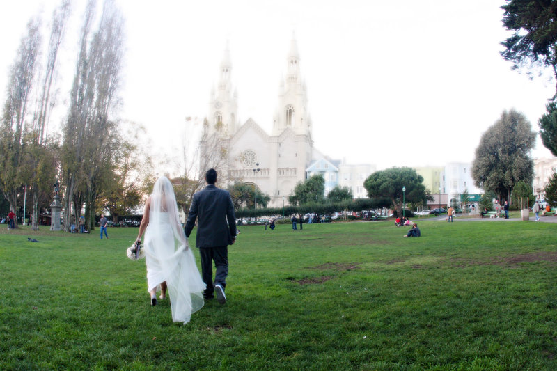 San Fran Church wedding