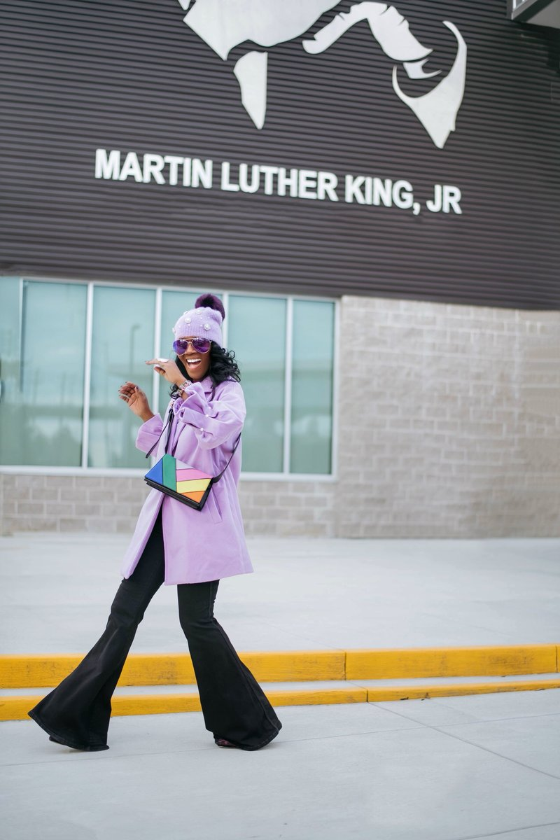 MLK Purple Coat