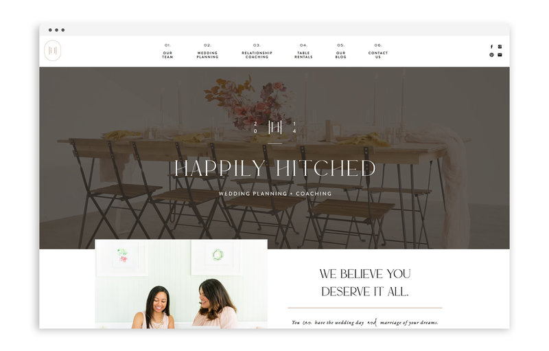 Happily Hitched - Custom Brand Logo and Showit Website Design by With Grace and Gold - 23