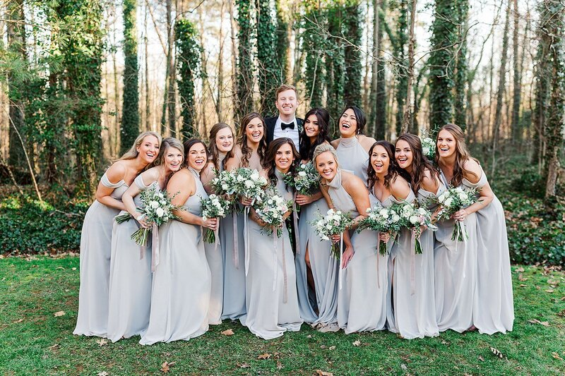 groom and bridesmaids by Knoxville Wedding Photographer, Amanda May Photos