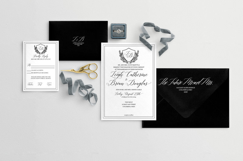 Estate Wedding Invitation Suite - wedding invites Columbus, Ohio