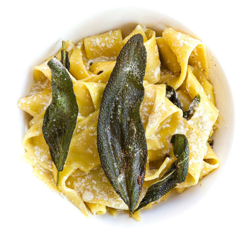 Brown Butter Pappardelle with Sage and Ricotta Salata