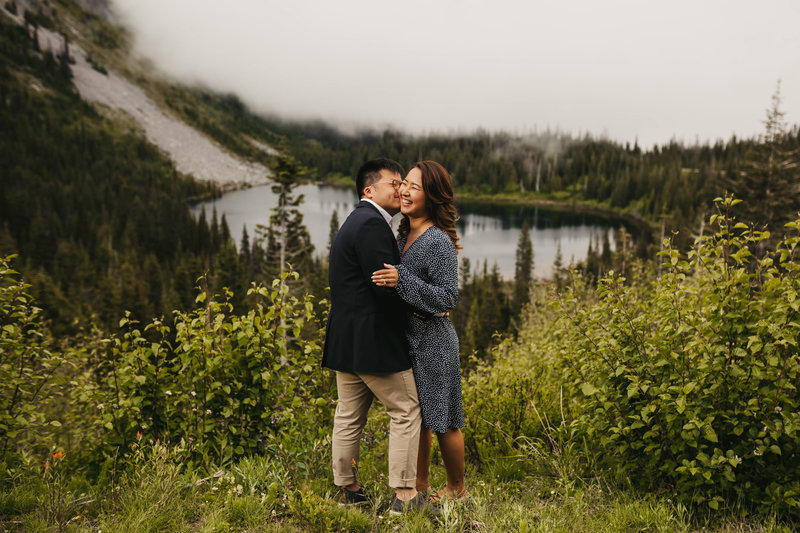 EMILY VANDEHEY PHOTOGRAPHY -- Shin + James -- Engagement -- Mt. Rainier, Washington_-21