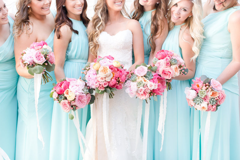 Bright Bold Bridesmaid Bouquets Chandler, Arizona | Amy & Jordan Photography