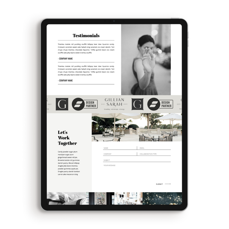 Orianna-media-kit-testimonials-showit-template