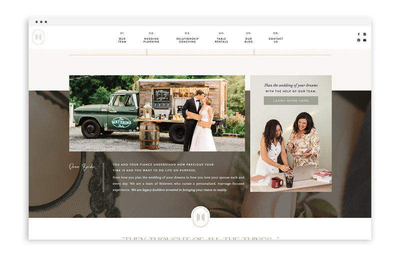 Happily Hitched - Custom Brand Logo and Showit Website Design by With Grace and Gold - 26