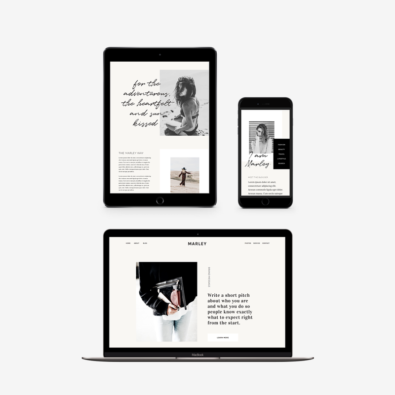 The Roar Showit Web Design Website Template Marley Responsive