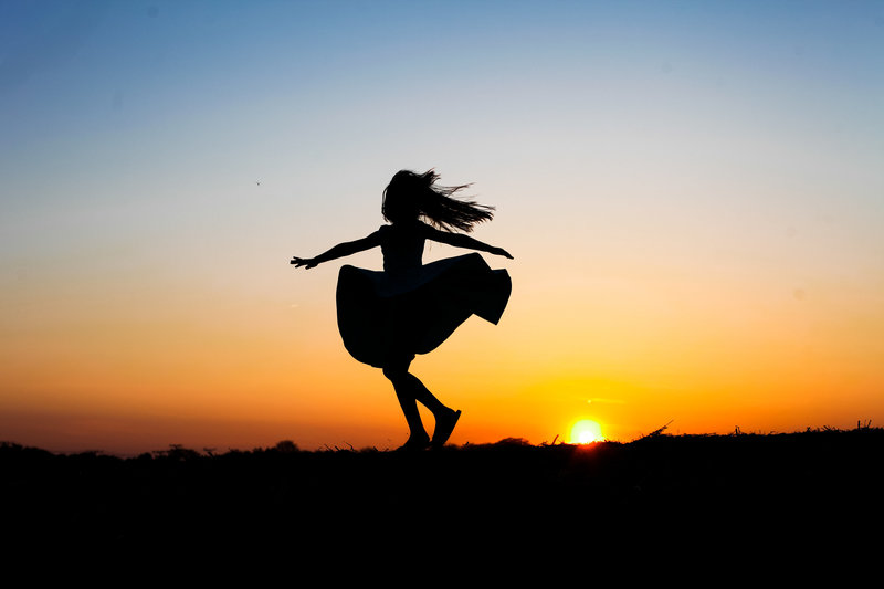 dance, sunset session, silhouette session, child photography, portrait photography