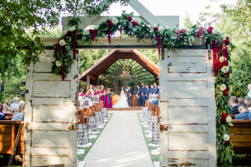 Wedding Ceremony at Avalon Legacy Ranch Dallas