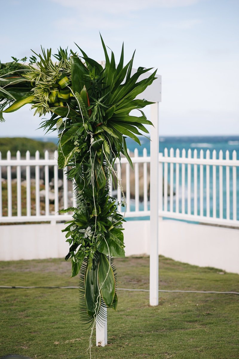 Modern Tropical Wedding in Barbados at Private Villa