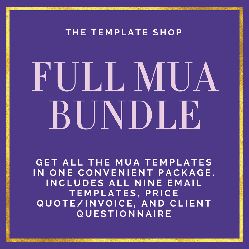 Full MUA Digital Template Bundle