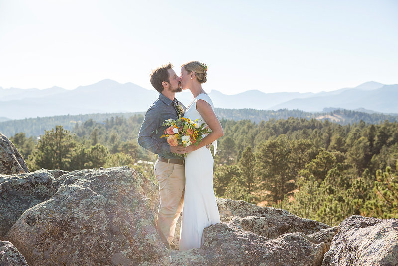 Colorado mountain wedding photography