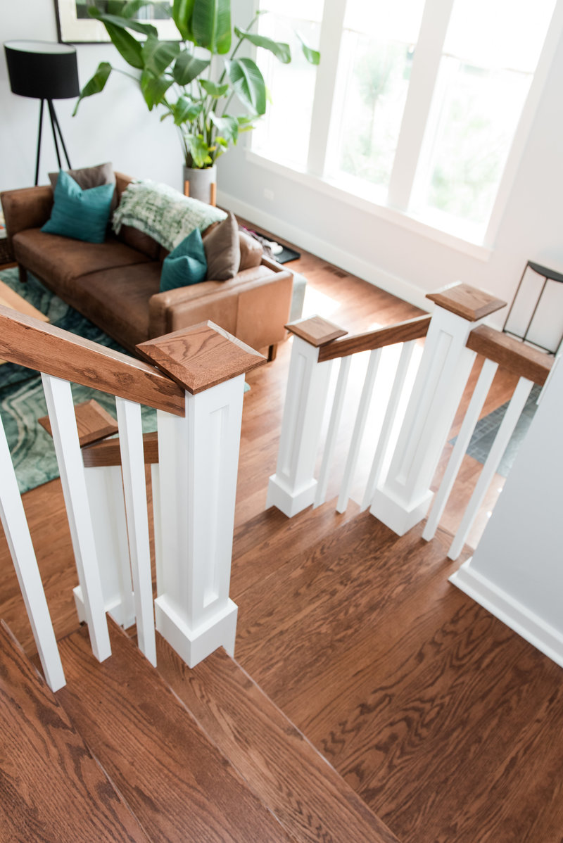Interior Home Custom Remodel Stairway Railing Staircase Stairs