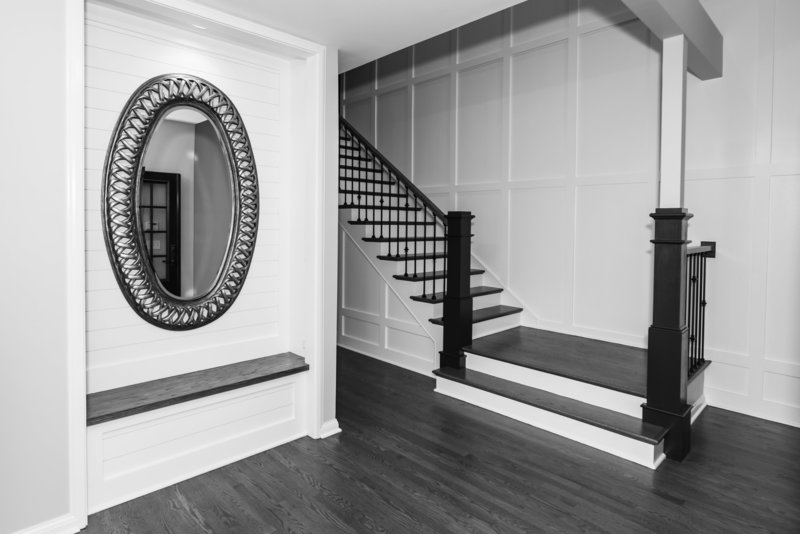 Interior Home Custom Entry Foyer Stairway  Remodel