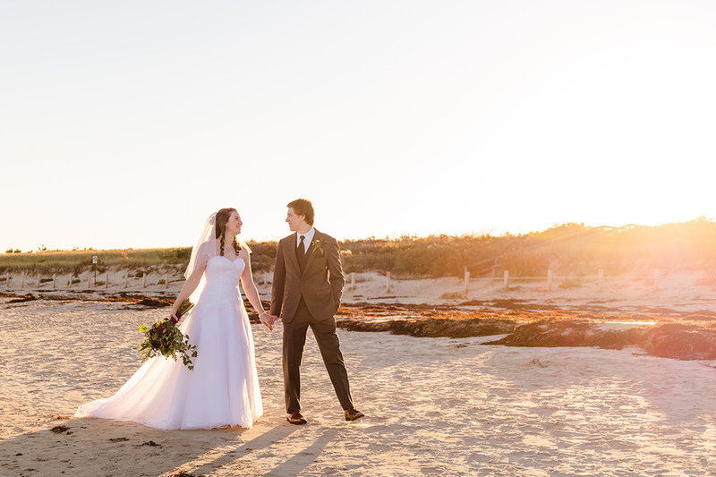 wedding photos on Ogunquit beach