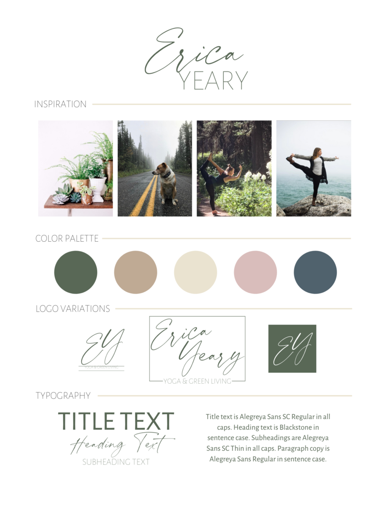 Manor House Consulting - Client Portfolio - Erica Yeary Yoga and Green Living