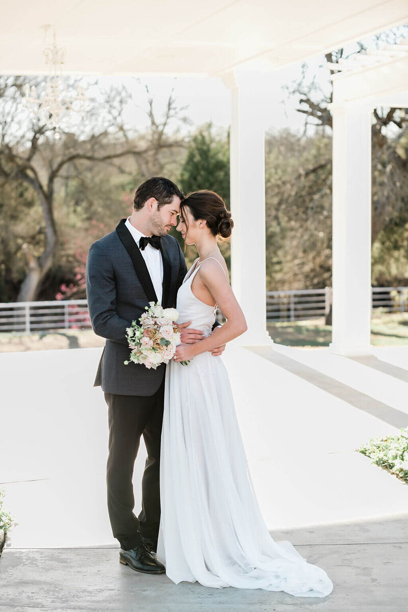 Bride and groom portraits at Firefly Gardens by White Orchid Photography