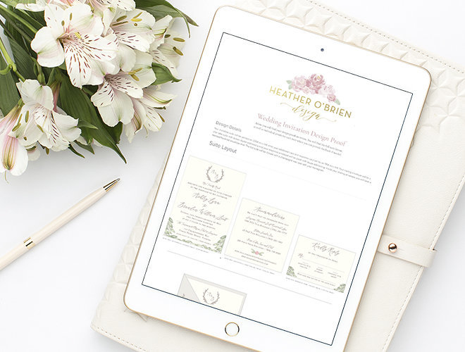 how to present your stationery invitation mockups to your clients