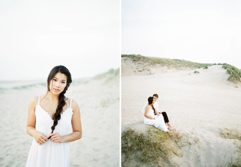 Lin & Marijn | engagement session photography at the beach the netherlands9